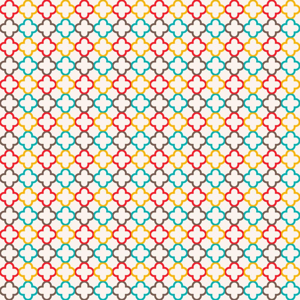 Colourful Quatrefoil Pattern