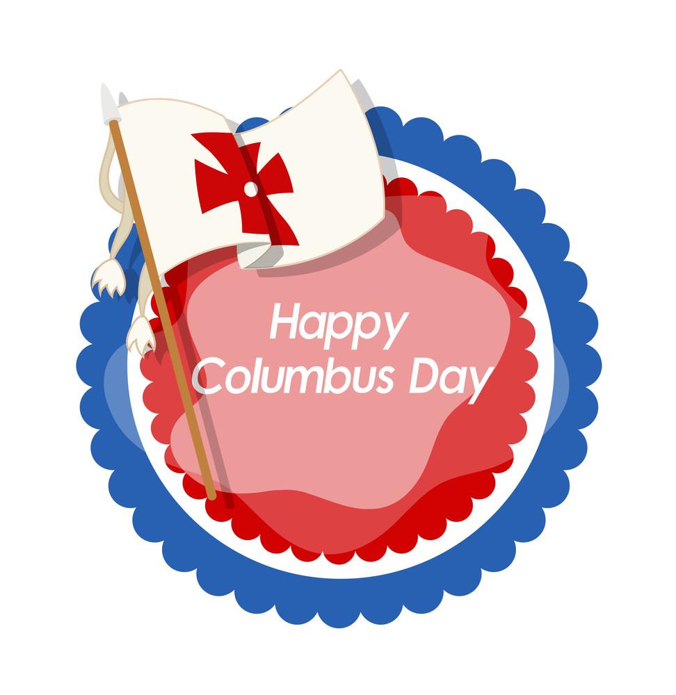 Columbus Day Flag Banner