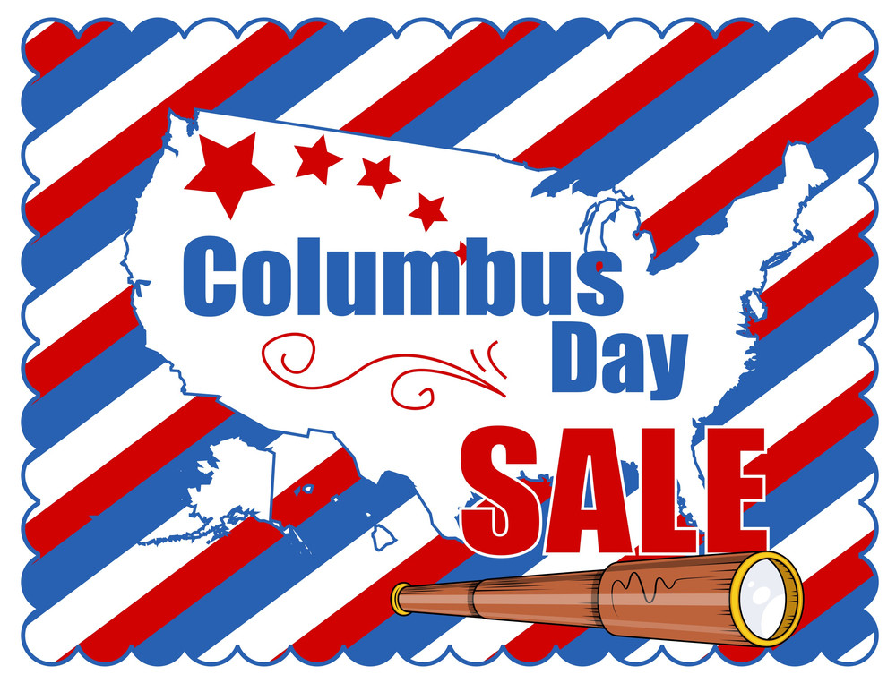 Columbus Day Graphic Sale Banner