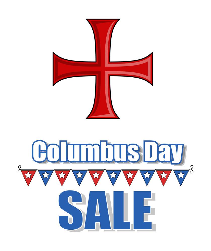 Columbus Day Greeting Banner