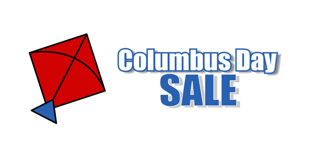 Columbus Day Kite Sale Banner