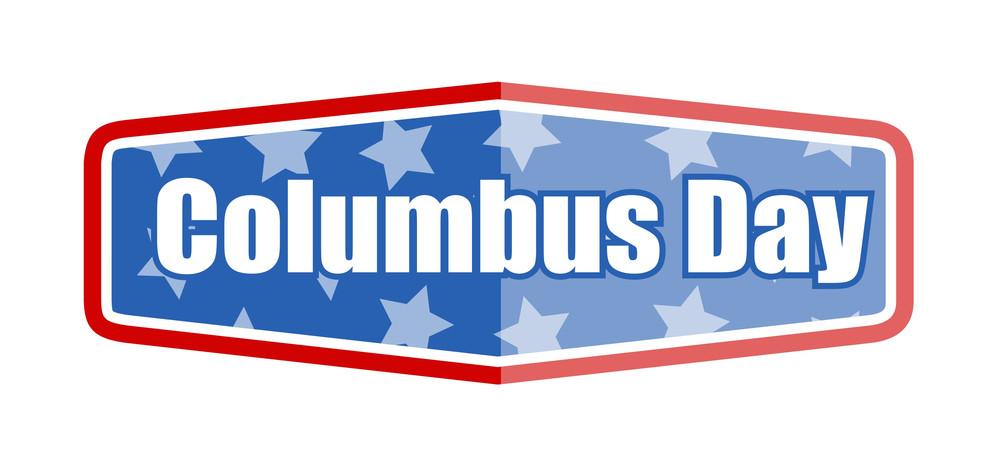 Columbus Day Label Banner