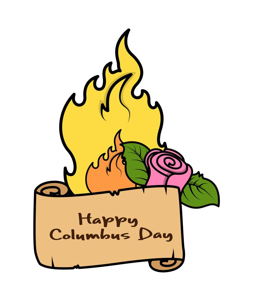 Columbus Day Retro Banner