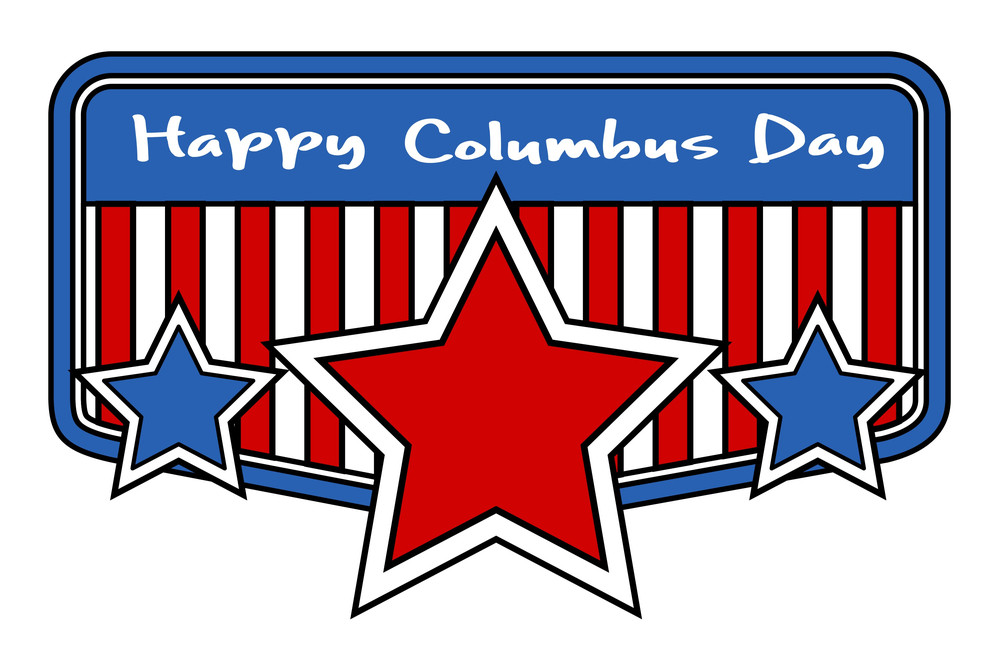 Columbus Day Retro Stars Banner