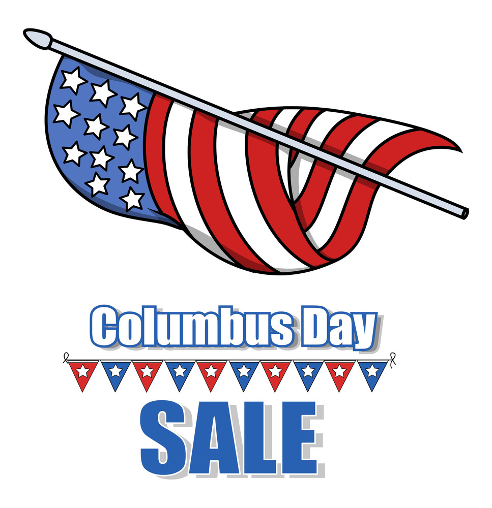 Columbus Day Sale Banner Graphic