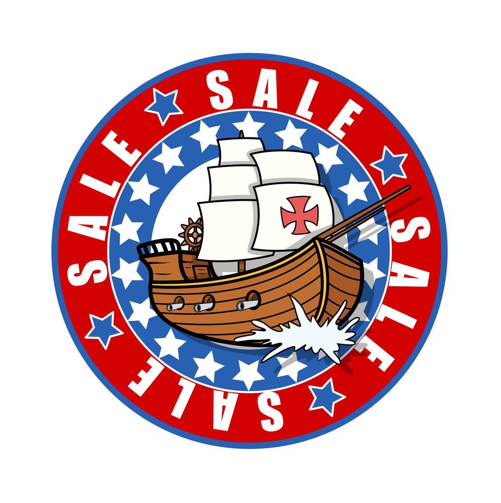 Columbus Day Sale Banner