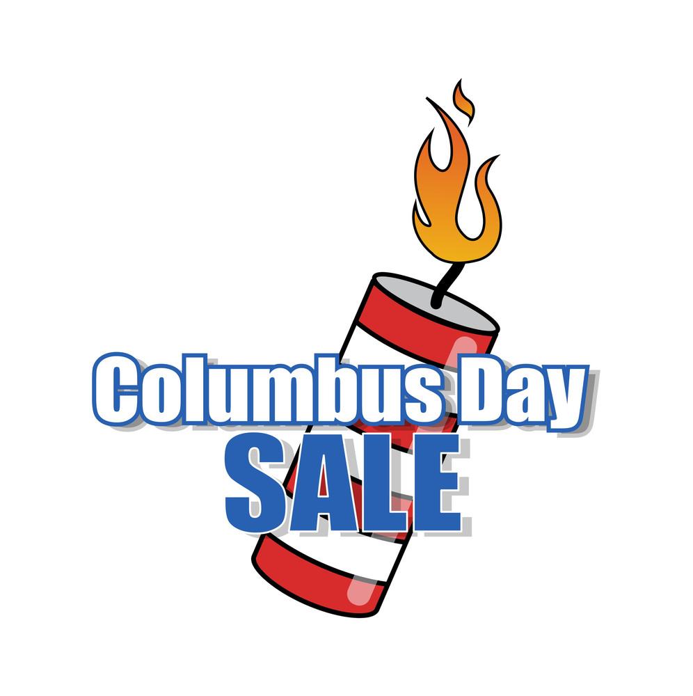 Columbus Day Sale Bomb Vector