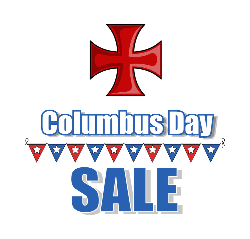 Columbus Day Sale Graphic Background