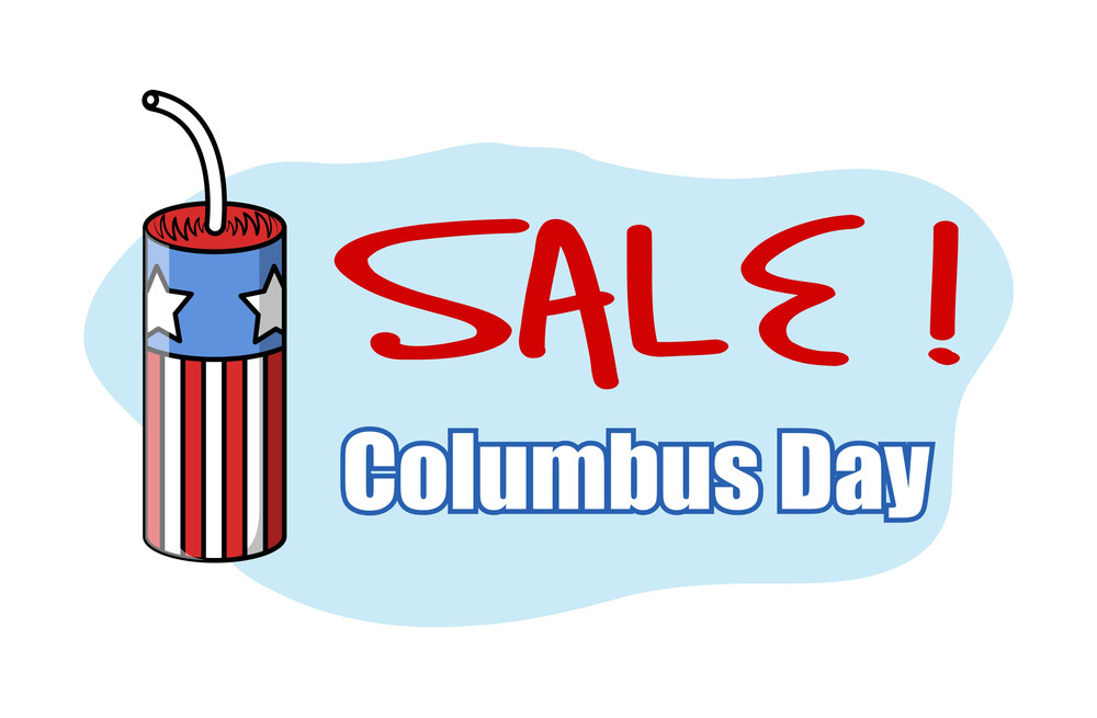 Columbus Day Sale Offer Banner