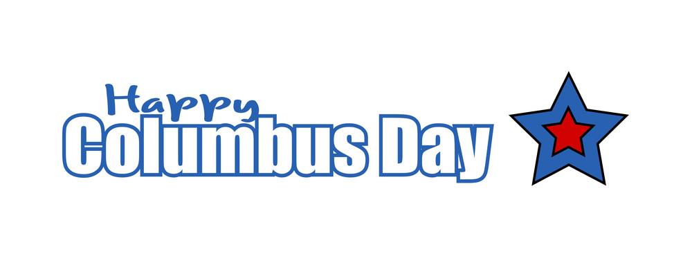 Columbus Day Star Banner