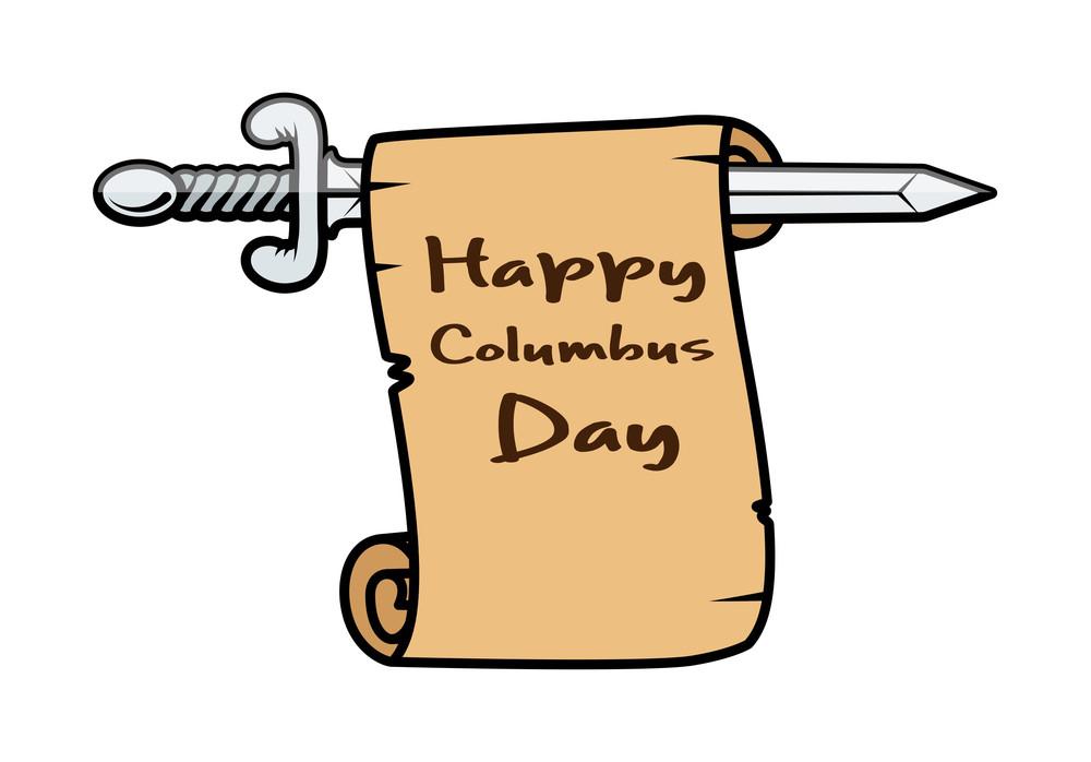 Columbus Day Sword Banner