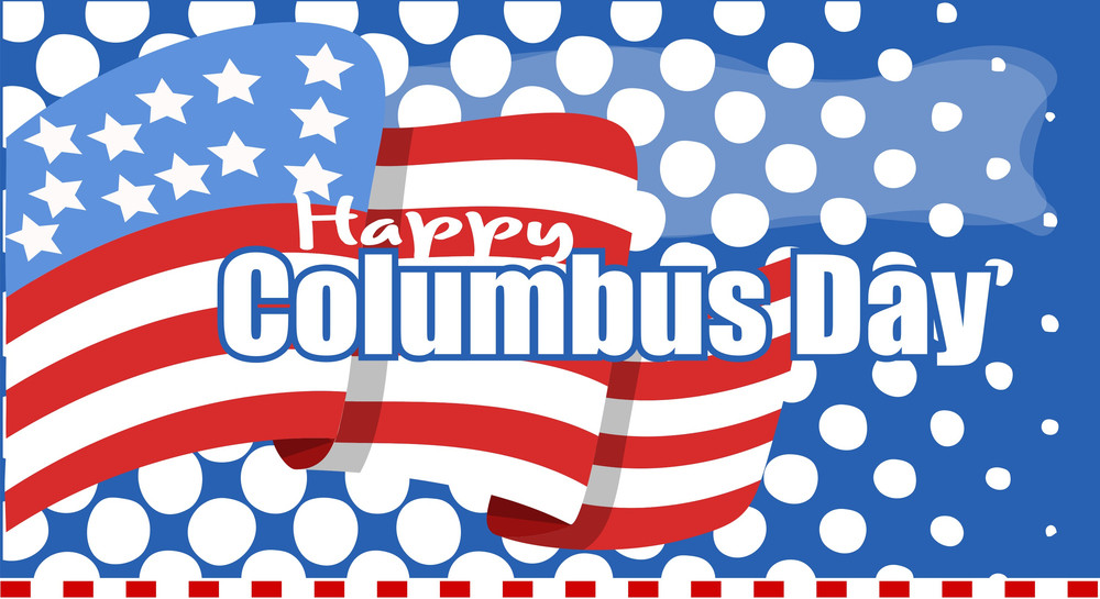 Columbus Day Usa Graphic Background