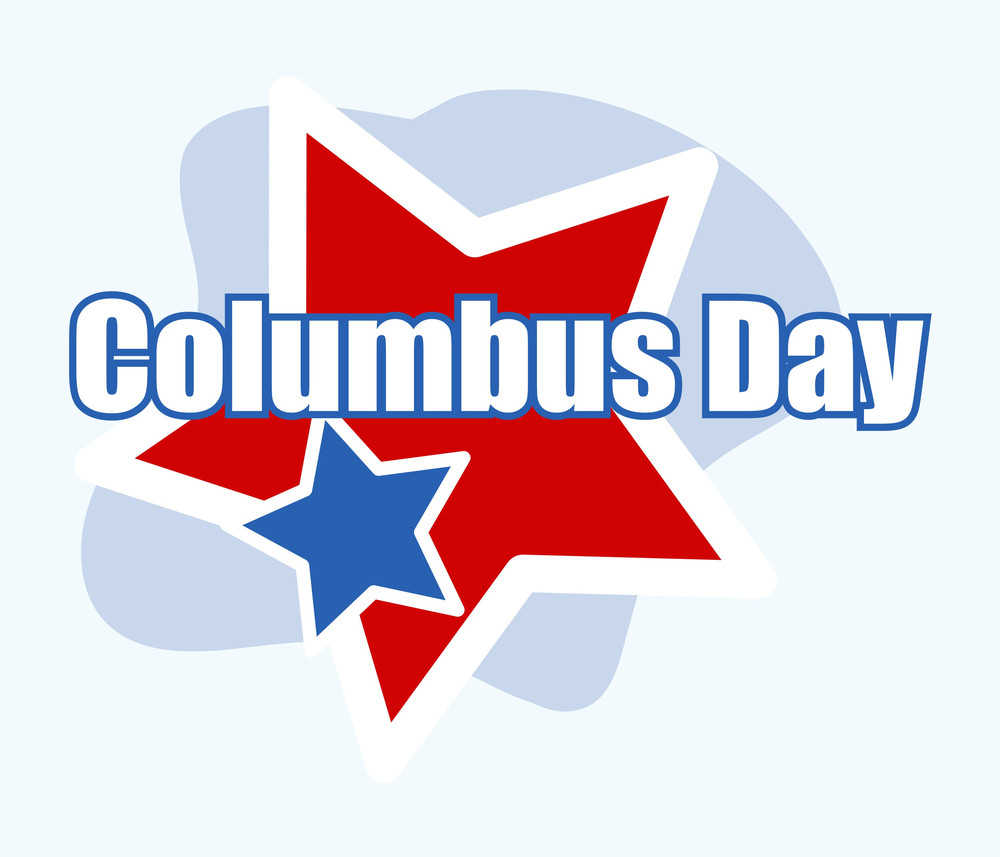 Columbus Day Vector Background