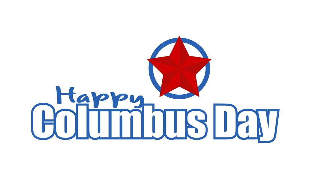 Columbus Day Vector Banner Design