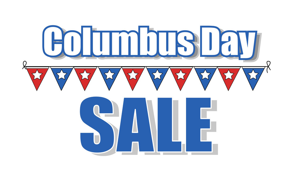 Columbus Day Vector Sale Banner