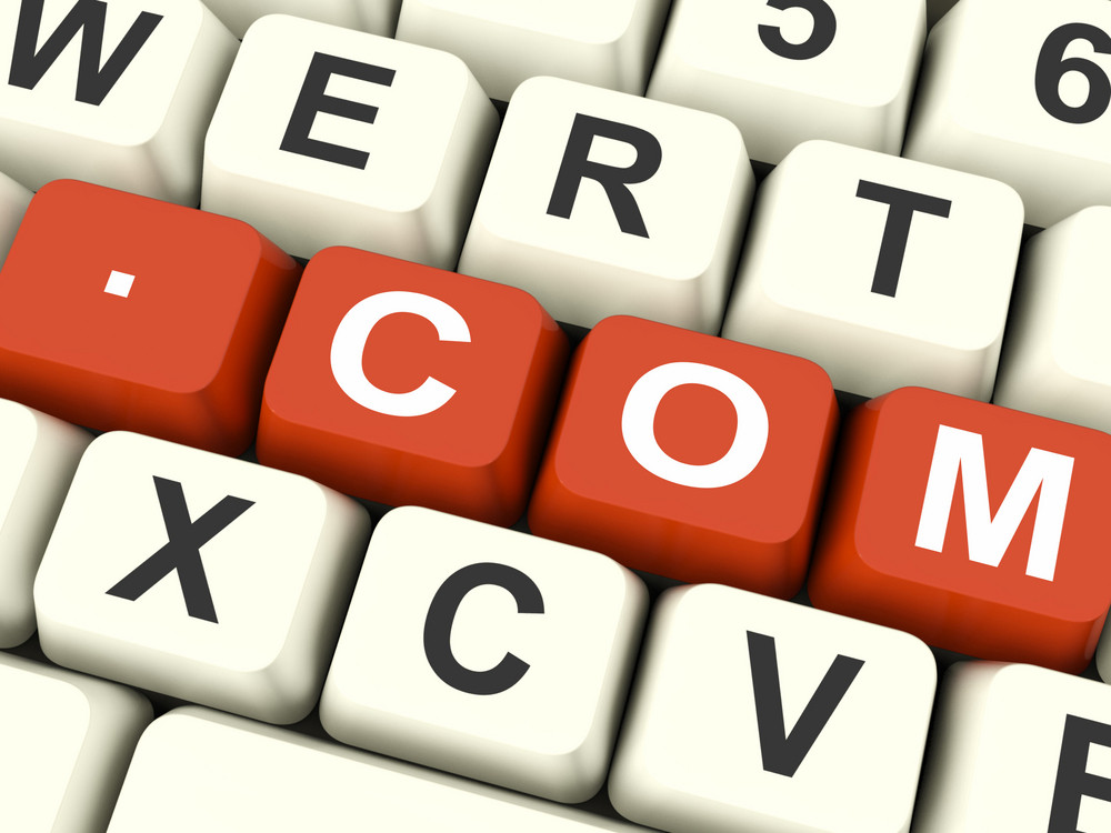 Com Key Shows Web Domain Name