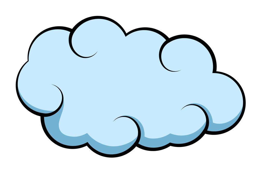 Cartoon clouds vector. Comic cloud royalty free