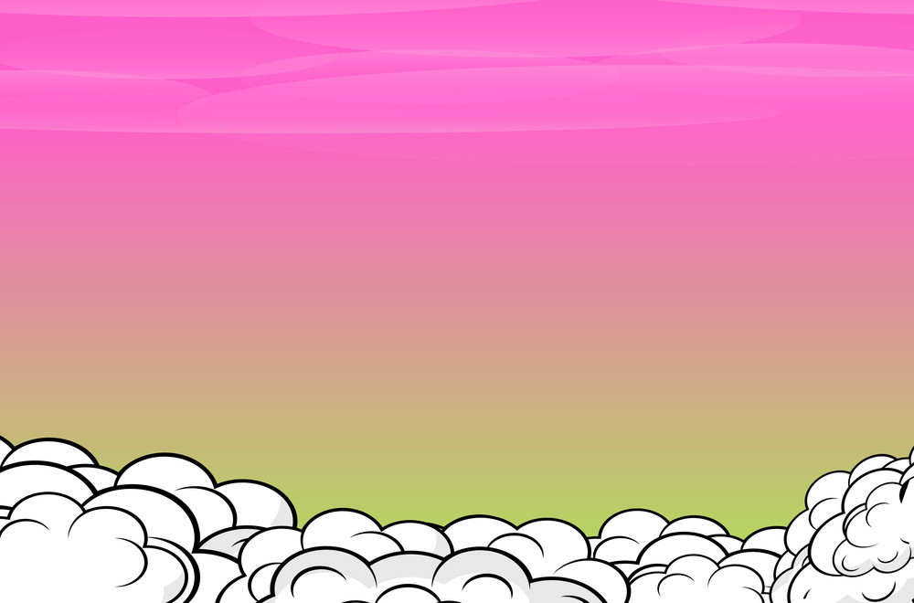 Comic Clouds Background