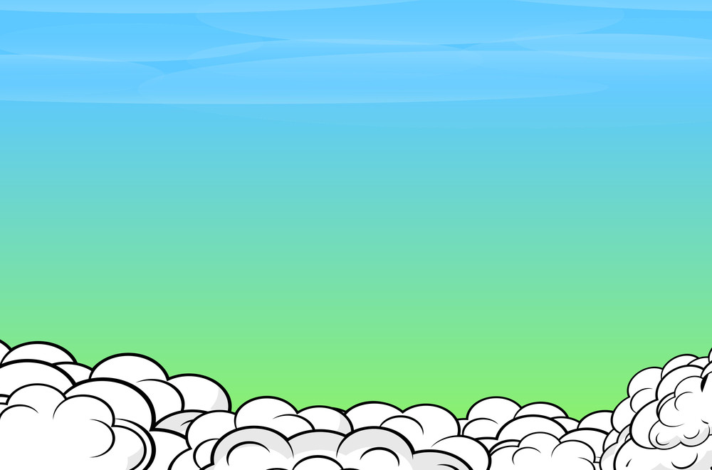 Comic Clouds Sky Background