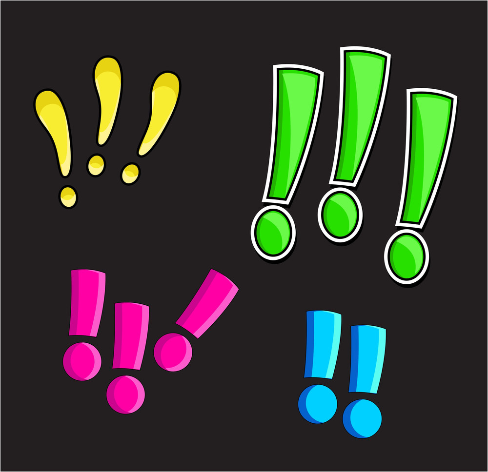 Comic Exclamation Mark Vector