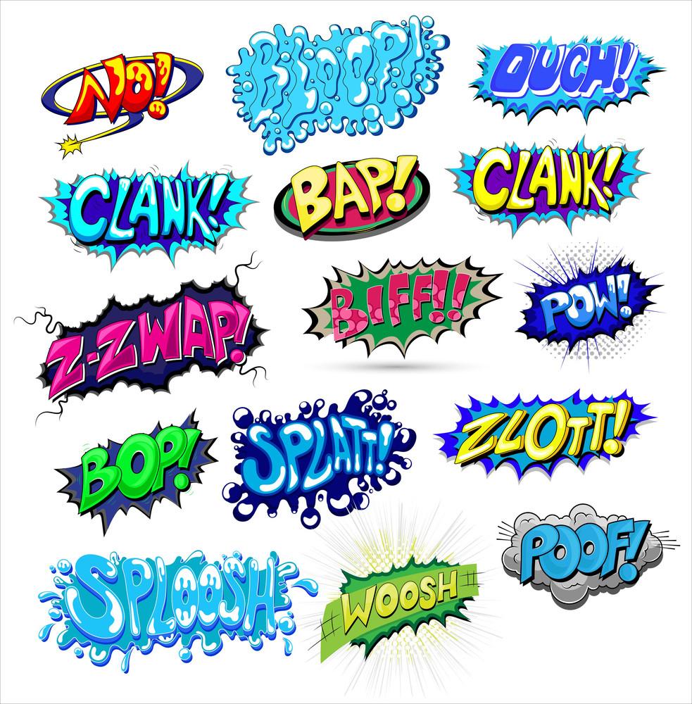 Comic Explosions And Expressions Vectors