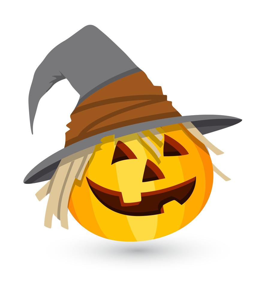 Comic Jack O' Lantern - Halloween Vector Illustration