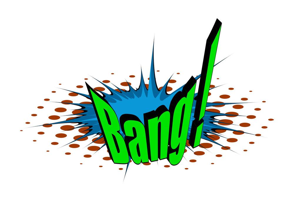 Comic Retro Bang Text