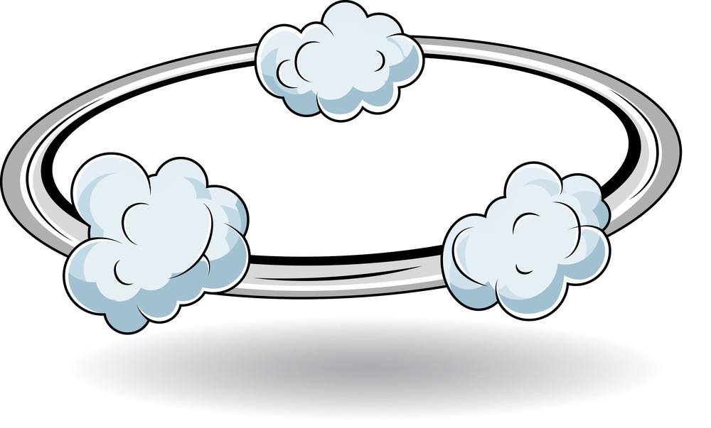 Comic Running Cloud Explosion Vector