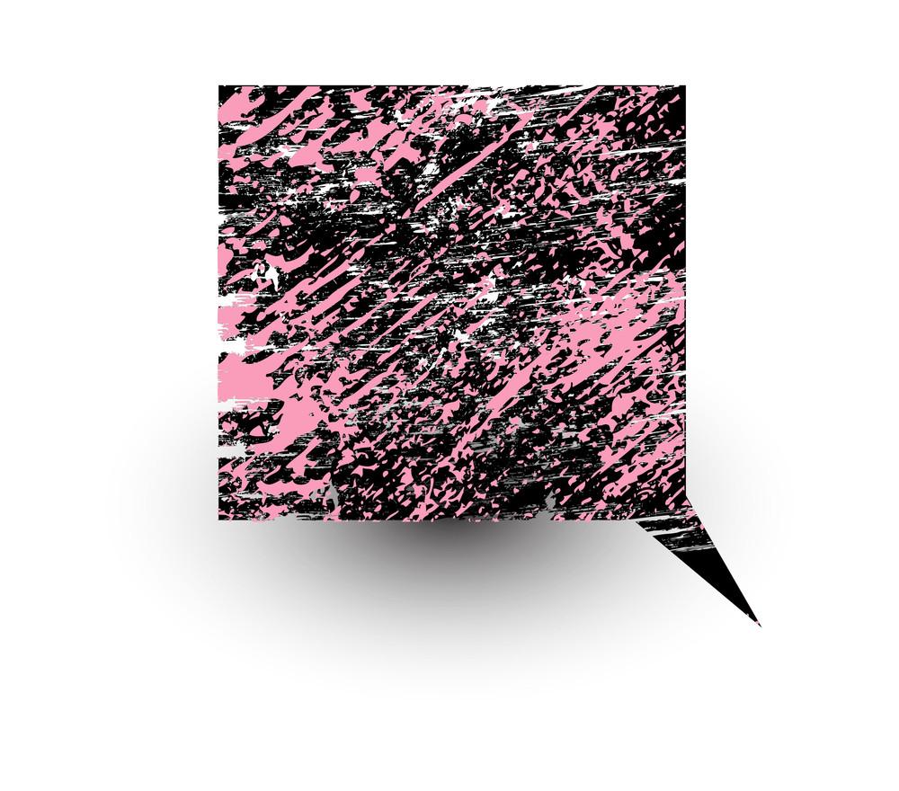 Comic Speech Bubble Grunge Texture
