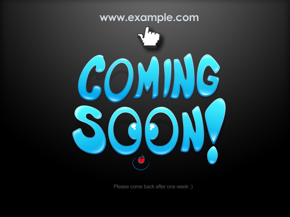 Coming Soon Web Template Design