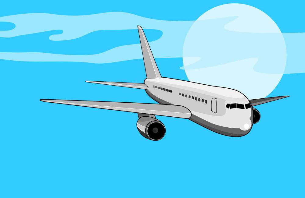 Commercial Jet Plane Airliner
