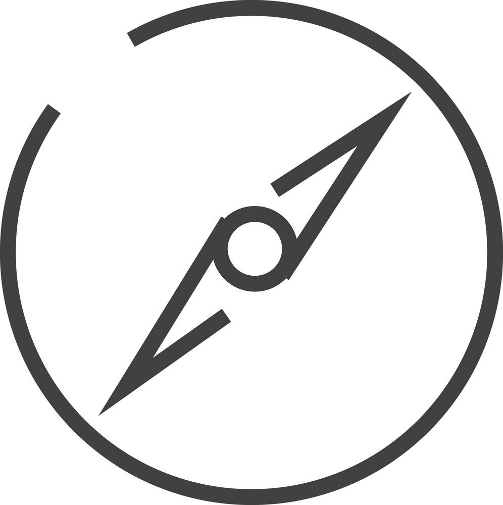 Compass Minimal Icon
