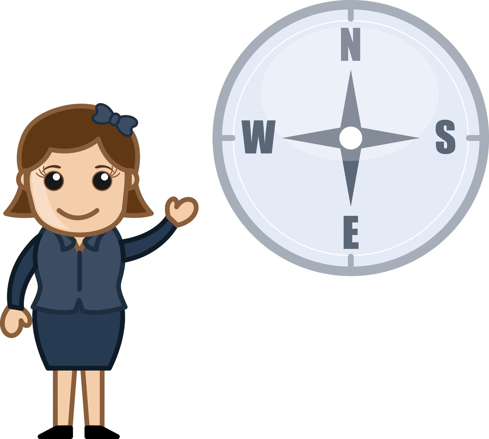 Compass Vector Cartoon