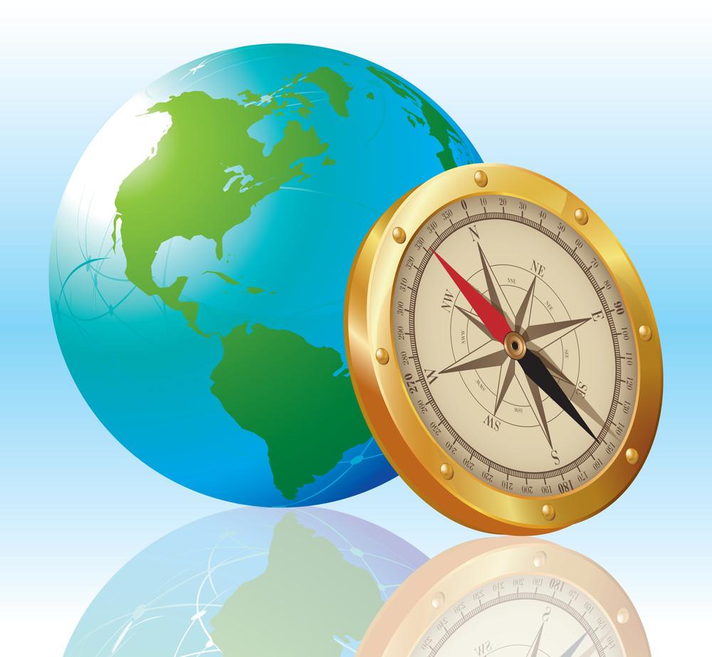 Compass. Vector.