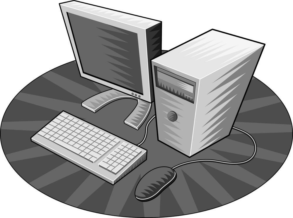 Computer Monitor Mouse Retro