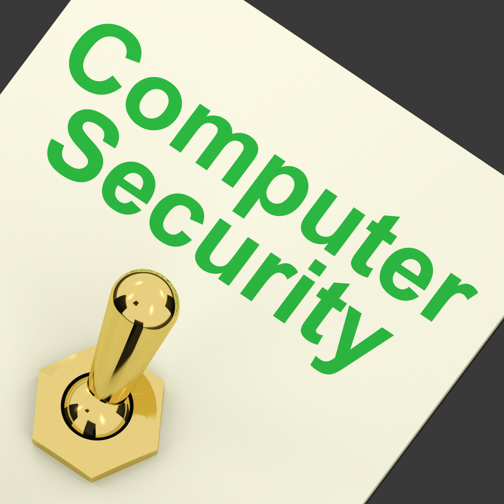 Computer Security Switch Shows Laptop Internet Safety