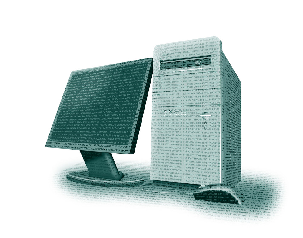 Computer Tower Monitor Mouse