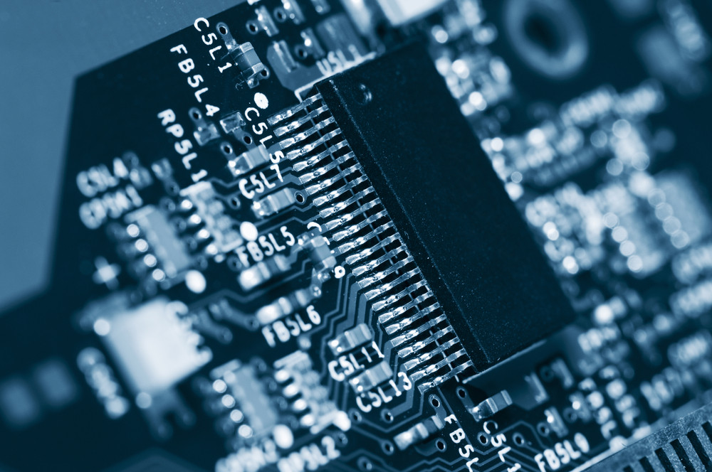 computers circuit-board and microchips
