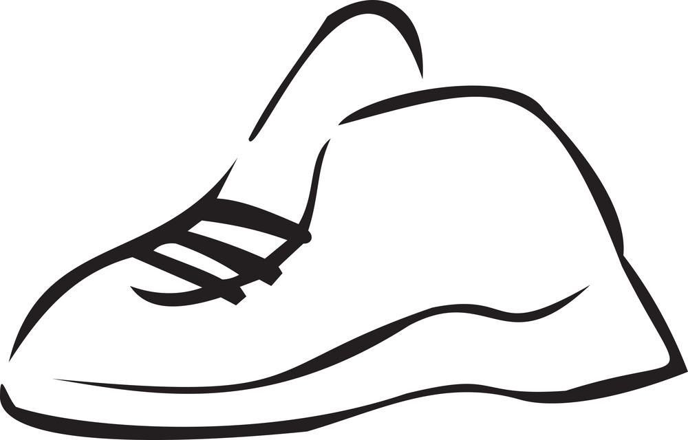 Concept Of Footwear With Sport Shoes.