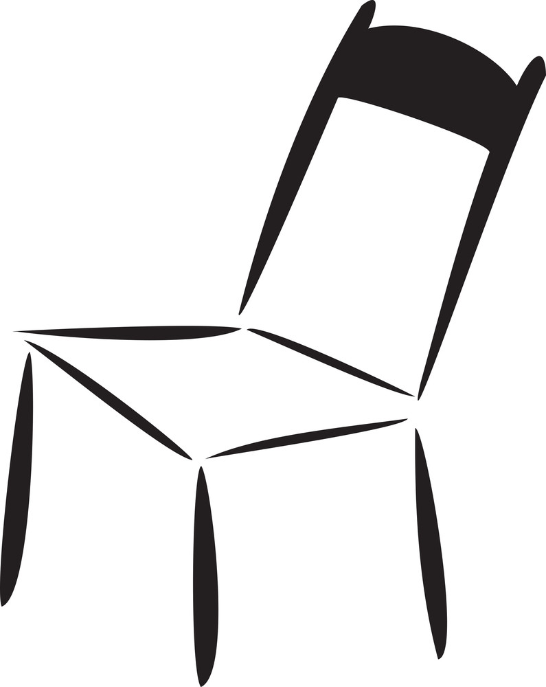 Concept Of Furniture With A Chair.