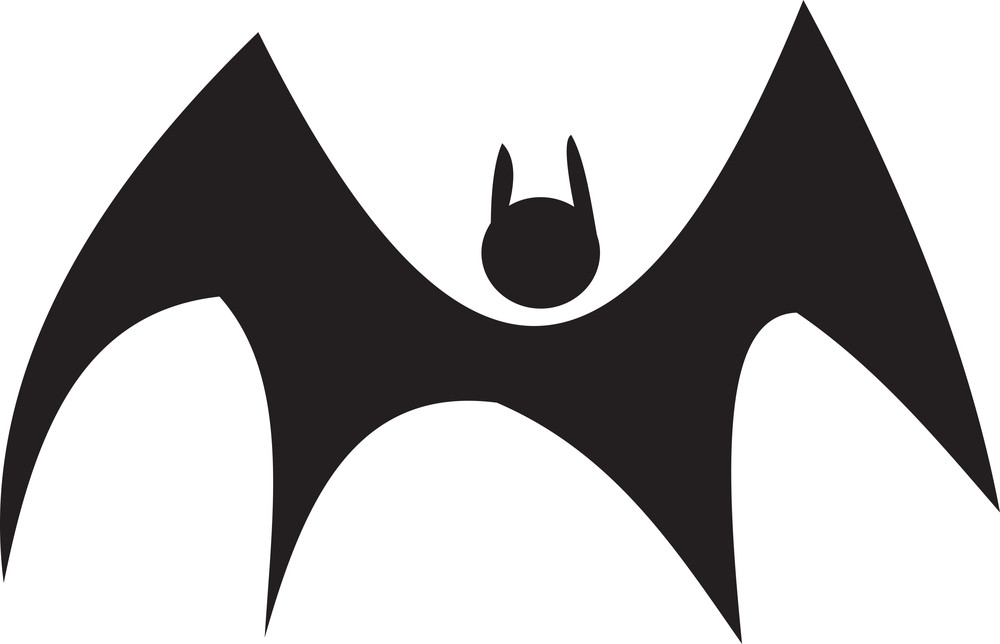 Concept Of Horror With Flying Bat.