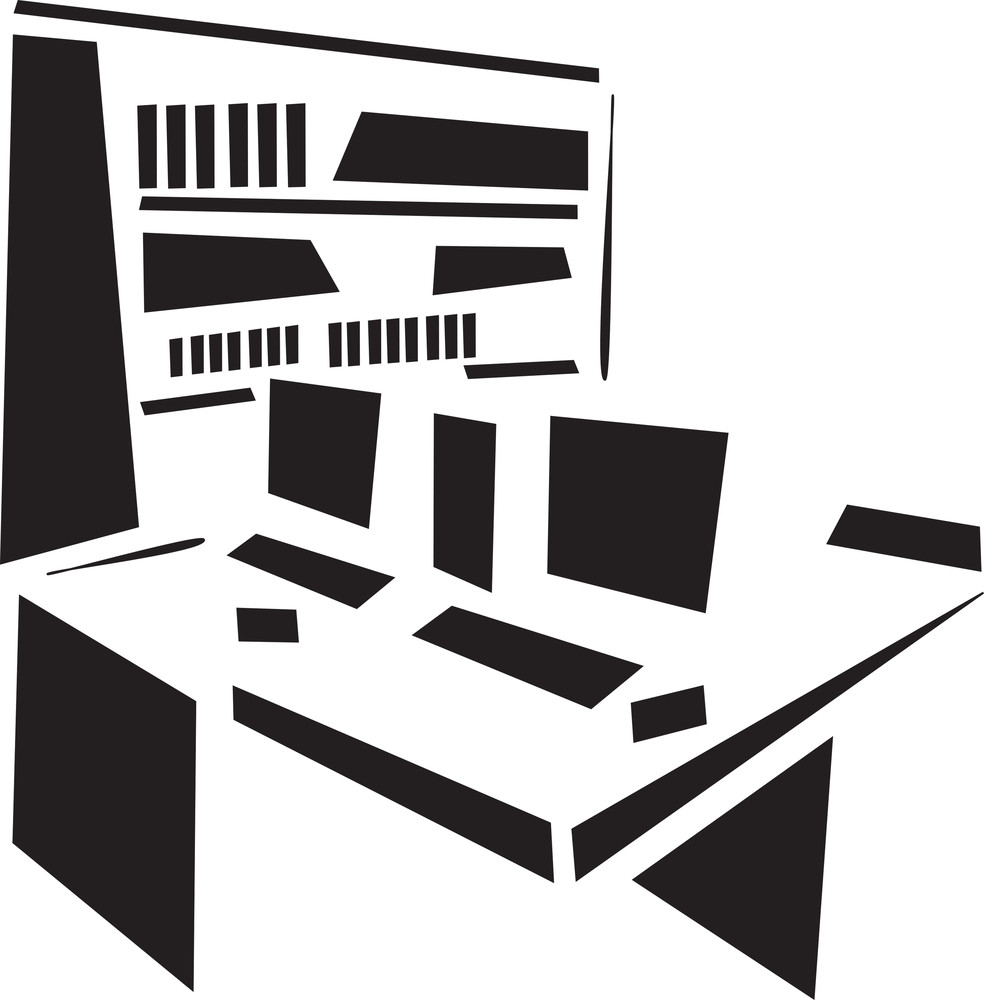 Concept Of Library In Black And White.