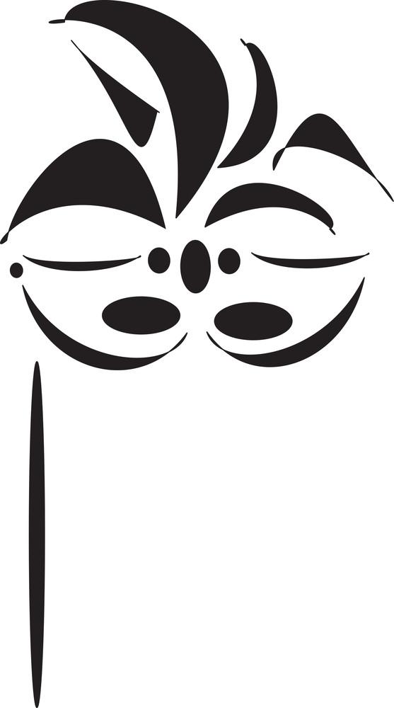 Concept Of Stylish Mask.