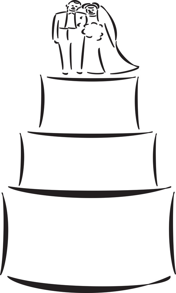 Concept Of Wedding With Cake.