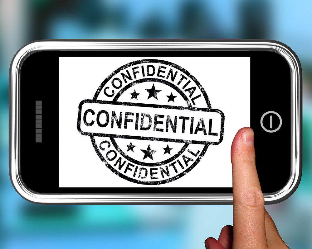 Confidential On Smartphone Shows Classified Information