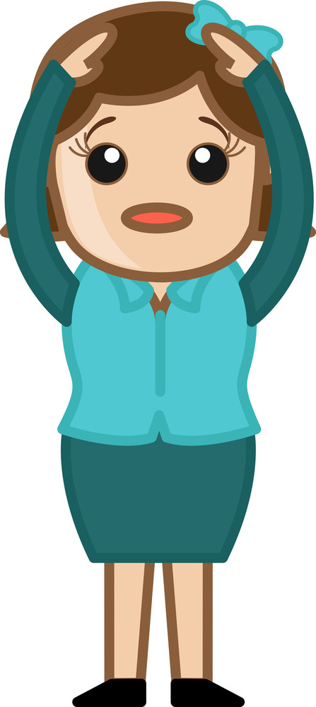 Confused Woman - Business Cartoon Character Vector