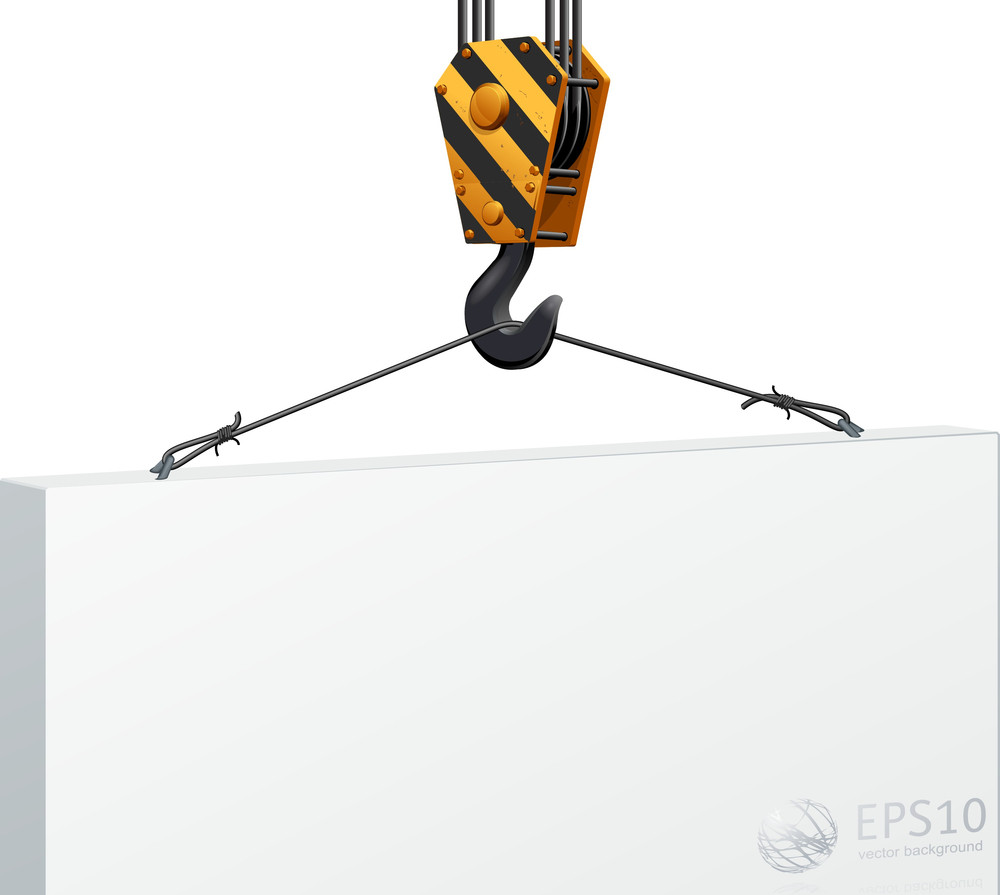 Construction Crane Hook Lifting Blank Board
