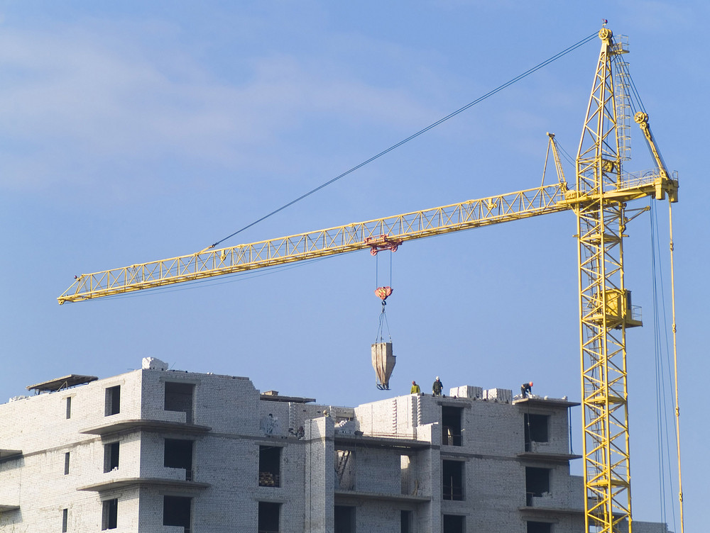 Construction Cranes In The Sky