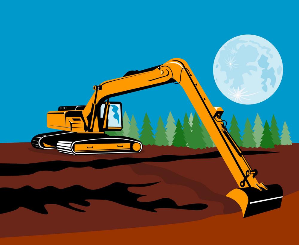 Construction Digger Mechanical Excavator