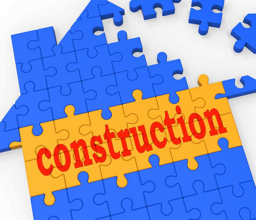 Construction House Shows Building Real Estate